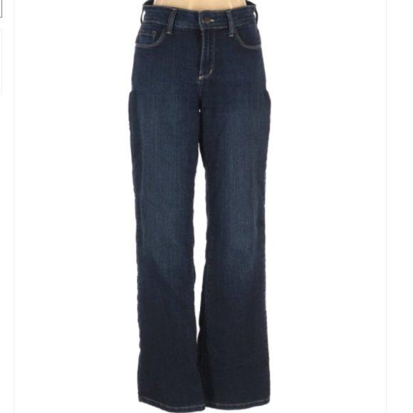 NYDJ Denim Jeans Petite Flare Mid Rise Sz 4P